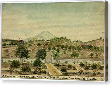 Parell House And The Signal Flagstaff Canvas Print by British Library