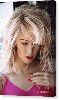 Paris Blonde Female Mannequin Art Deco Canvas Print by Kathy Fornal