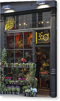 Paris Flower Shop Canvas Print by Glenn DiPaola