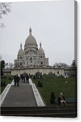 Paris France - Basilica Of The Sacred Heart - Sacre Coeur - 12128 Canvas Print by DC Photographer