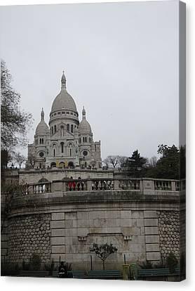Paris France - Basilica Of The Sacred Heart - Sacre Coeur - 12129 Canvas Print by DC Photographer