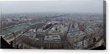 Paris France - Eiffel Tower - 01131 Canvas Print by DC Photographer