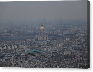 Paris France - Eiffel Tower - 01133 Canvas Print by DC Photographer