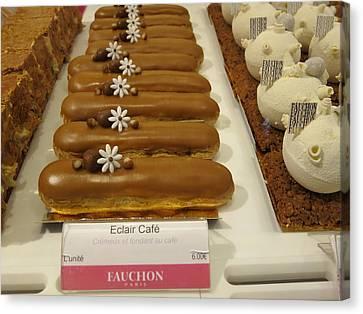 Paris France - Pastries - 121279 Canvas Print by DC Photographer