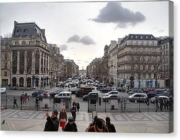 Paris France - Street Scenes - 011393 Canvas Print by DC Photographer