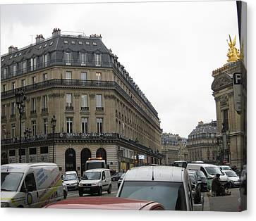 Paris France - Street Scenes - 121258 Canvas Print by DC Photographer