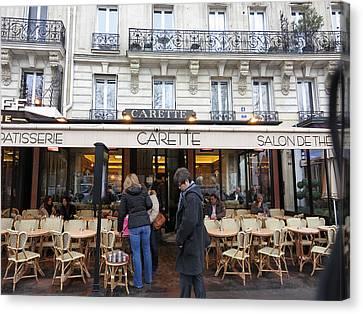 Paris France - Street Scenes - 12129 Canvas Print by DC Photographer