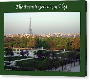 Paris In The Fall With Fgb Border Canvas Print by A Morddel