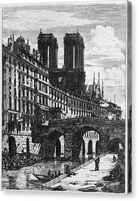 Paris Le Petit Pont Canvas Print by Granger