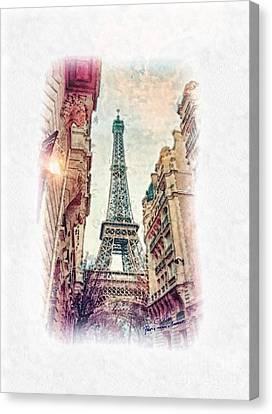 Paris Mon Amour Canvas Print by Mo T
