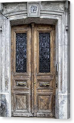 Paris Montmartre Door Number 12 Canvas Print by Georgia Fowler