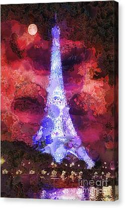 Paris Night Canvas Print by Mo T