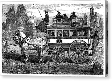 Paris Omnibus Canvas Print by Science Photo Library