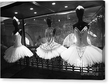 Paris Opera Garnier Ballerina Costume Tutu - Paris Black And White Ballerina Photography Canvas Print by Kathy Fornal