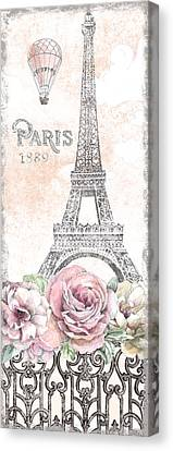 Paris Roses Panel Viii Canvas Print by Beth Grove