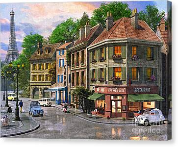 Paris Street Canvas Print by Dominic Davison