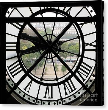 Paris Time Canvas Print by Ann Horn