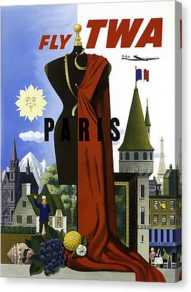 Paris Twa Canvas Print by Mark Rogan