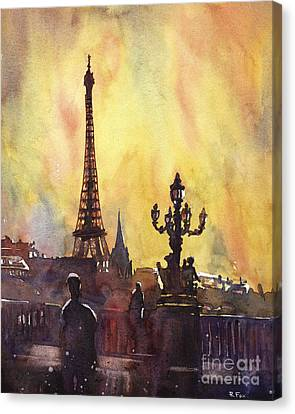 Parisian Sunset Canvas Print by Ryan Fox