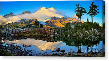 Park Butte Panorama Canvas Print by Inge Johnsson