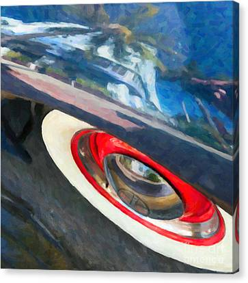 Park Central Hotel Reflection - South Beach - Miami - Square - Oil Paint Effect Canvas Print by Ian Monk