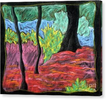 Park Landscape Canvas Print by Elizabeth Fontaine-Barr