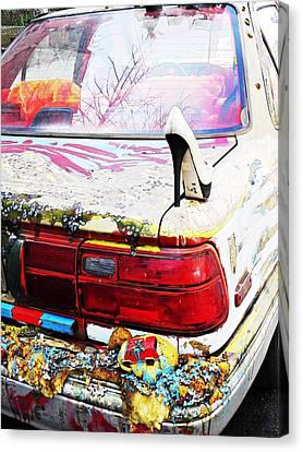 Parked On A New York Street Canvas Print by Sarah Loft
