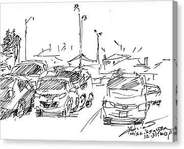 Parking Lot  Canvas Print by Ylli Haruni