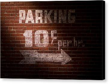 Parking Ten Cents Canvas Print by Bob Orsillo