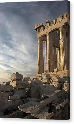 Parthenon From The South Canvas Print by Ellen Henneke