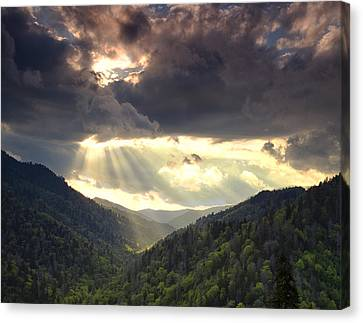 Parting Of The Sky Canvas Print by Andrew Soundarajan