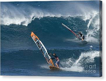 Partners In The Extreme Canvas Print by Bob Christopher