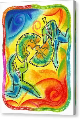 Partnership Canvas Print by Leon Zernitsky