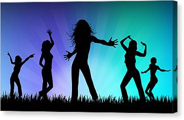 Party People Canvas Print by Aged Pixel