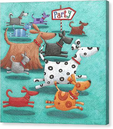 Party Canvas Print by Peter Adderley