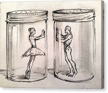 Pas De Deux Canvas Print by H James Hoff