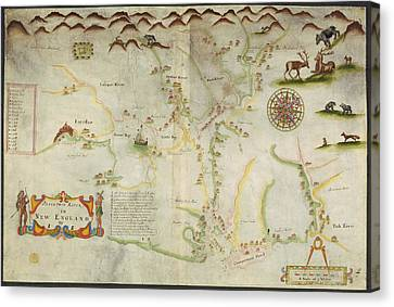 Pascatway River Canvas Print by British Library