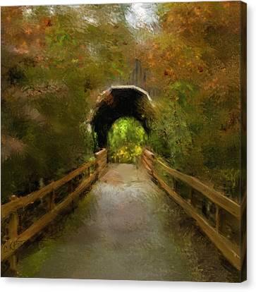 Pass Creek Bridge Canvas Print by Dale Stillman