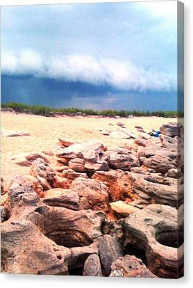 Passing Storm Canvas Print by Julie Wilcox