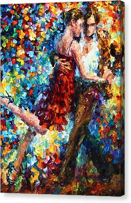 Passion Dancing Canvas Print by Leonid Afremov