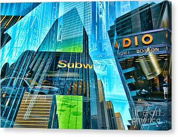 Passion Nyc Around Rockefeller Center Canvas Print by Sabine Jacobs