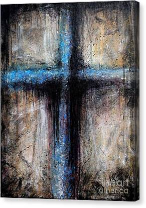 Passion Of The Cross Canvas Print by Mike Grubb