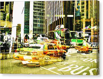 Passion Nyc Midtown Noon Traffic Canvas Print by Sabine Jacobs