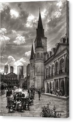 Past Present Future In Black And White Canvas Print by Greg and Chrystal Mimbs