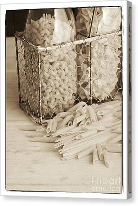Pasta Sepia Toned Canvas Print by Edward Fielding
