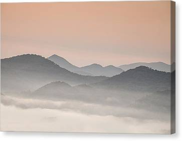 Pastel Dawn In The Smokies Canvas Print by Andrew Soundarajan