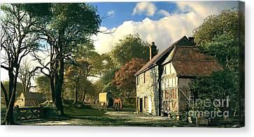 Pastoral Homestead Canvas Print by Dominic Davison