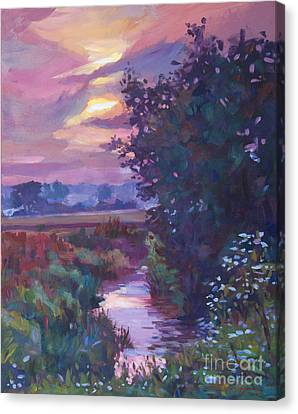 Pastoral Morning Canvas Print by David Lloyd Glover