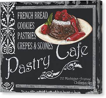 Pastry Cafe Canvas Print by Debbie DeWitt