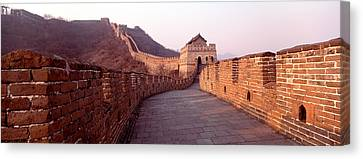 Path On A Fortified Wall, Great Wall Of Canvas Print by Panoramic Images